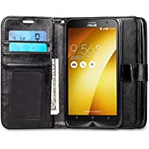 "Asus Zenfone 2 Case, J&D [Stand View] Asus Zenfone 2 Wallet Case [Slim Fit] [Stand Feature] Premium Protective Case Wallet Leather Case Zenfone 2 (5.5"") ZE550ML / ZE551M (Wallet Black)"