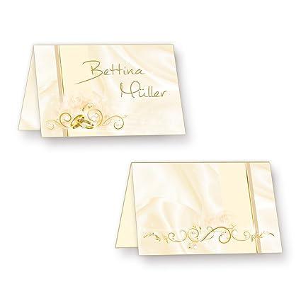Tischkarten Hochzeit Perlmutt 20 Stück Hinreissend Schöne Platzkarten Mit Ringen Ranken Inkl Gold Lackstift Zum Beschriften