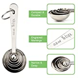 Accmor 11 Piece Stainless Steel Measuring Spoons Cups Set, Premium Stackable Tablespoons Measuring Set for Fathers Day Gift Dry Liquid Ingredients Cooking Baking