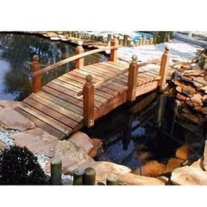 Whitehead Redwood jardín puente tamaño–12pies