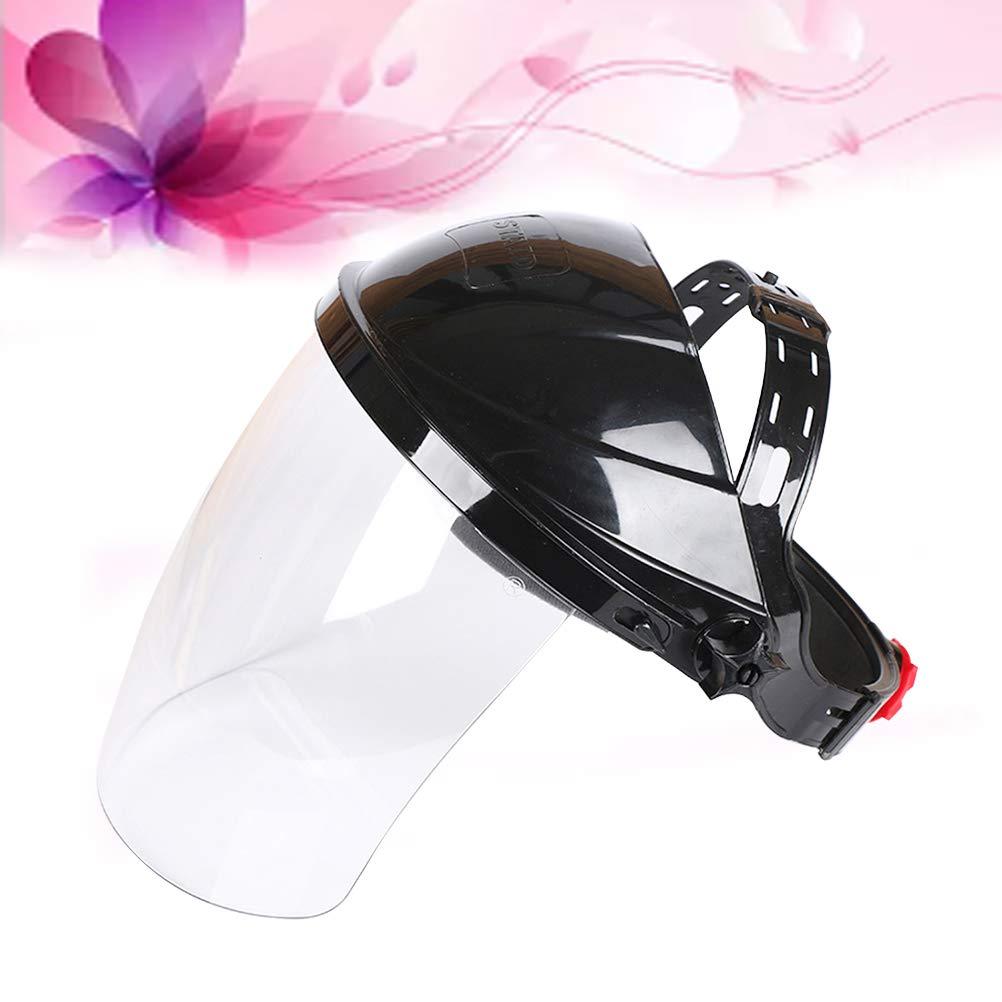 LIOOBO Cascos para soldar M/áscara de soldar transparente montada en la cabeza Auriculares anti-UV negro