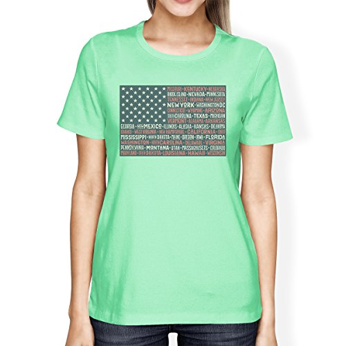 T shirt States Courtes Flag 365 Printing Femme Taille 50 Us Manches Unique 15xA4