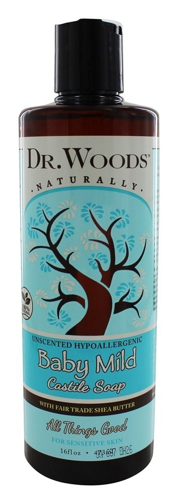 Dr. Woods Unscented Baby Mild Castile Soap with Organic Shea Butter, 16 Ounce by Dr. Woods Dr. Woods Naturals 2895