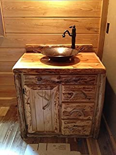 36 Inch Rustic Northern White Cedar Bathroom Vanity
