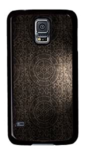 Gears pattern background PC Case Cover for Samsung S5 and Samsung Galaxy S5 Black