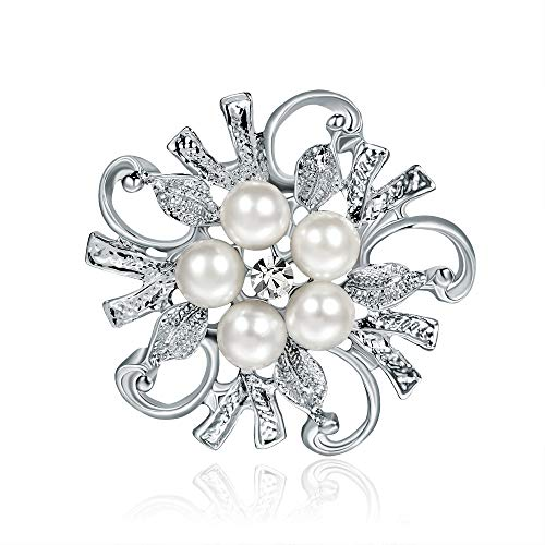 Elehere Crystal Brooch Pin - Large Wedding Dangling Rhinestone Brooch Bouquet DIY, Ceremony Decoration (A8)