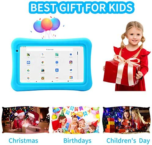 Tablet for Kids 7 Wifi Android 10.0 Kids Tablet with YouTube 2GB 16GB Tablets for Kids Toddler Tablet with Case Parent Control Kid Learning Tablet PreInstalled Educational Game APP Google Netflix Blue