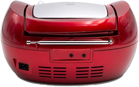 Lauson CP442 Radio CD Port/átil con USB Color Rojo