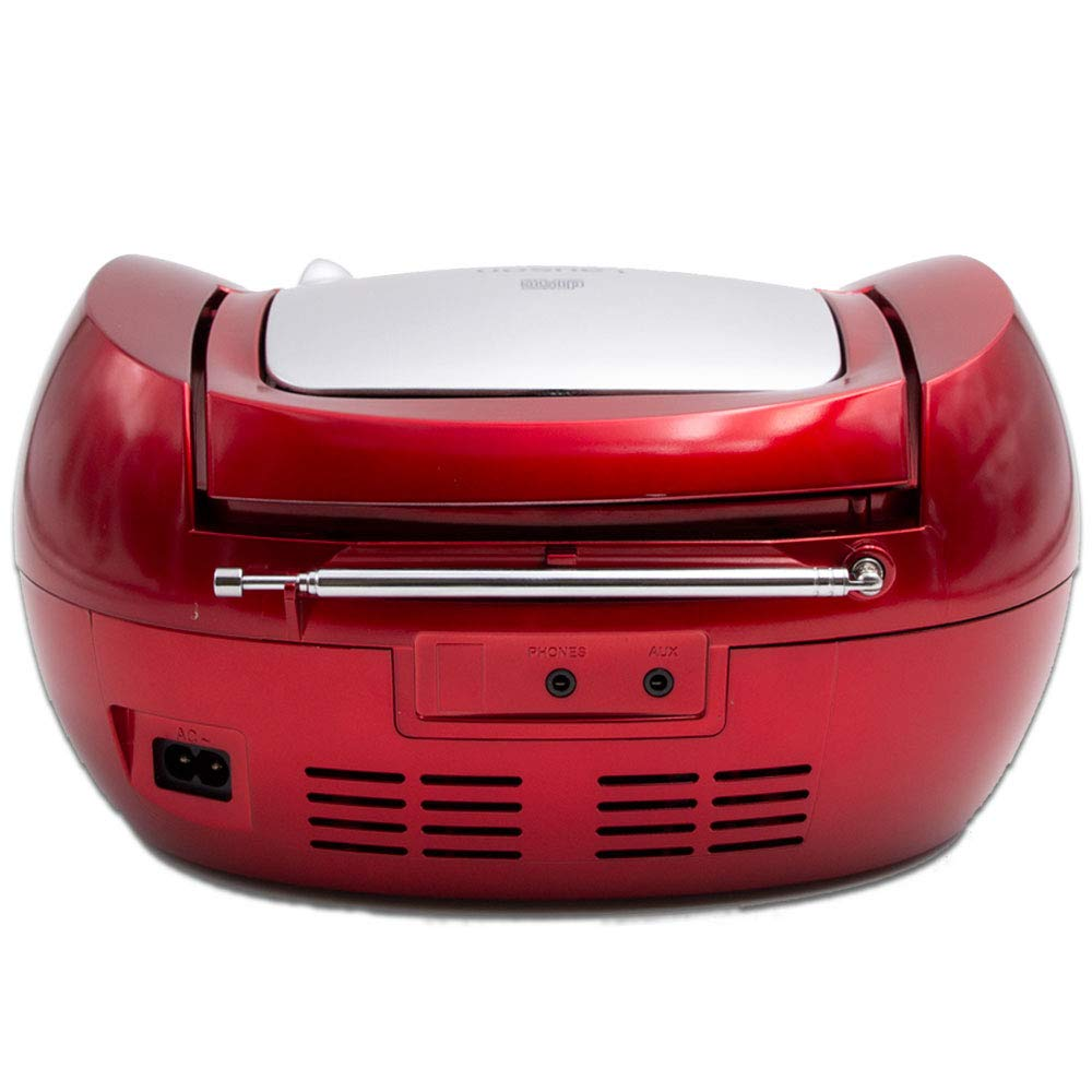 Lauson Boombox whit Cd Player Mp3   Portable Radio CD-player Stereo with USB   Usb & MP3 Player   Headphone Jack (3.5mm) CP542 (Red) by Lauson Woodsound (Image #4)