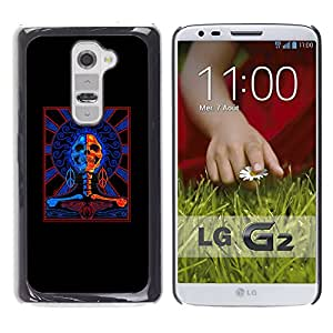 Paccase / SLIM PC / Aliminium Casa Carcasa Funda Case Cover - Black Red Blue Cops Skull Crossbones - LG G2 D800 D802 D802TA D803 VS980 LS980