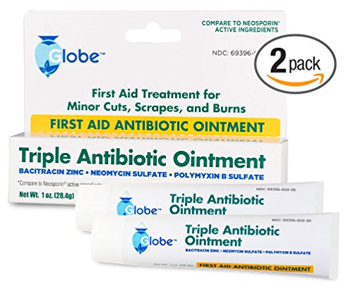 Strength First Aid Antibiotic Ointment - Triple Antibiotic First Aid Ointment, 1 oz. (Compare to Neosporin) 2-Pack