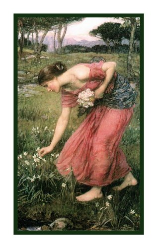 The Narcissus by John William Waterhouse Counted Cross Stitch Pattern (Woman Counted Cross Stitch)