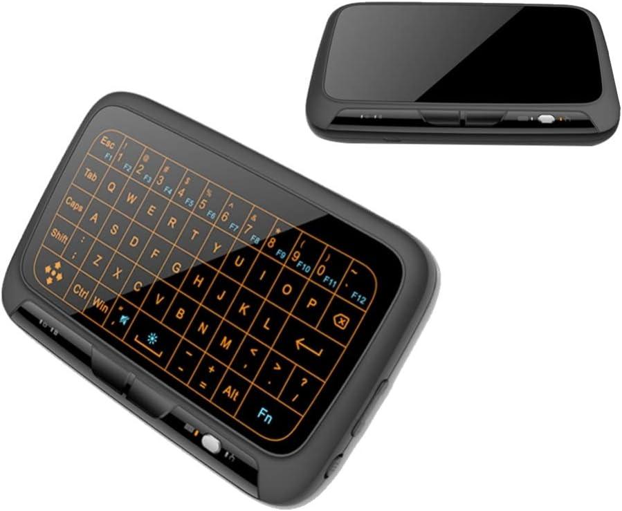 Mobestech 2.4Ghz Teclado Inalámbrico Touchpad Combo Teclado de Pantalla Táctil con Control Remoto de Luz de Fondo Compatible para Android TV Box Proyector Pc Portátil (Versión de Luz de Fondo)