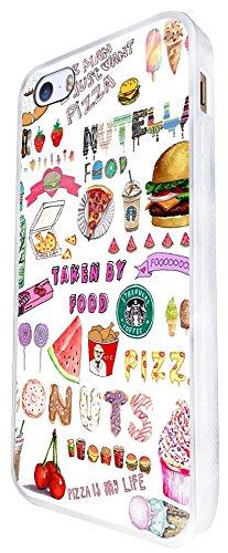 943 - Cool Cute Fun Doodle School Sketch Illustration Food Trend Donut Unicorn Junk Food Burger Ice Cream Design iphone SE - 2016 Coque Fashion Trend Case Coque Protection Cover plastique et métal - B