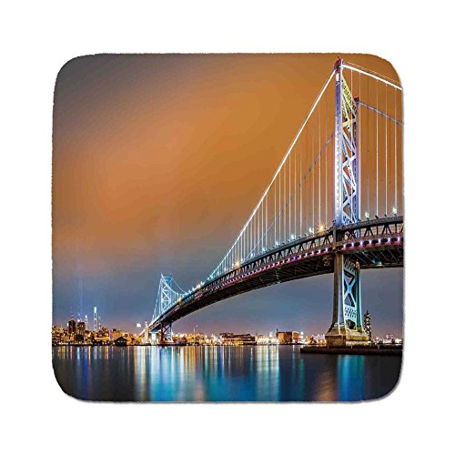Shop online Cozy Seat Protector Pads Cushion Area Rug,Apartment Decor,Ben Franklin Bridge and Philadelphia Skyline Viewed from