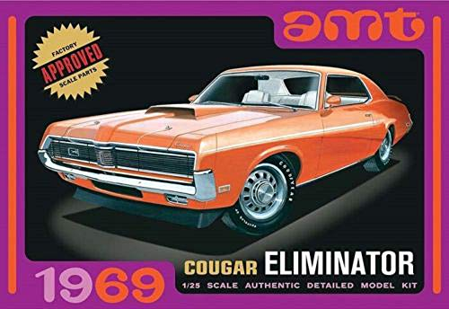 - AMT 1969 Mercury Cougar 1/25 Scale Model Car Kit Orange