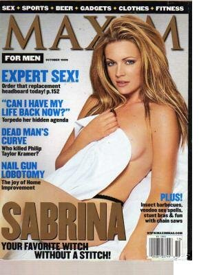 MAXIM Magazine October 1999 Melissa Joan Hart Sabrina cover feature