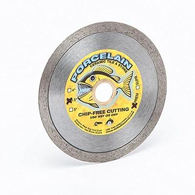 Piranha Porcelain Tile Diamond Blades, Continuous Rim, Dry or Wet Cutting of Porcelain Tile, Ceramic Tile, Marble, Granite Tile, & Similar Materials