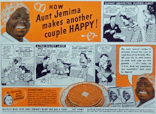 Aunt Jemima Pancake Mix, Print Ad. Color Illustration (Susan's unexpected supper guest) Original Vintage, 1940 Rare Woman's Day Magazine Art - Vintage Womans Day Magazine