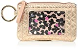 Vera Bradley Iconic Zip ID Case, Foiled Cotton, Rose Gold Shimmer