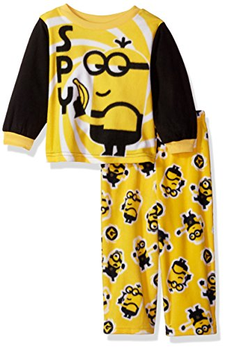 Despicable Me Boys' Minions 2-Piece Fleece Pajama Set,