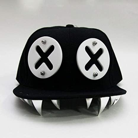 WBSNA Estilo Punky Devil Monster Remaches dentales Gorra de ...