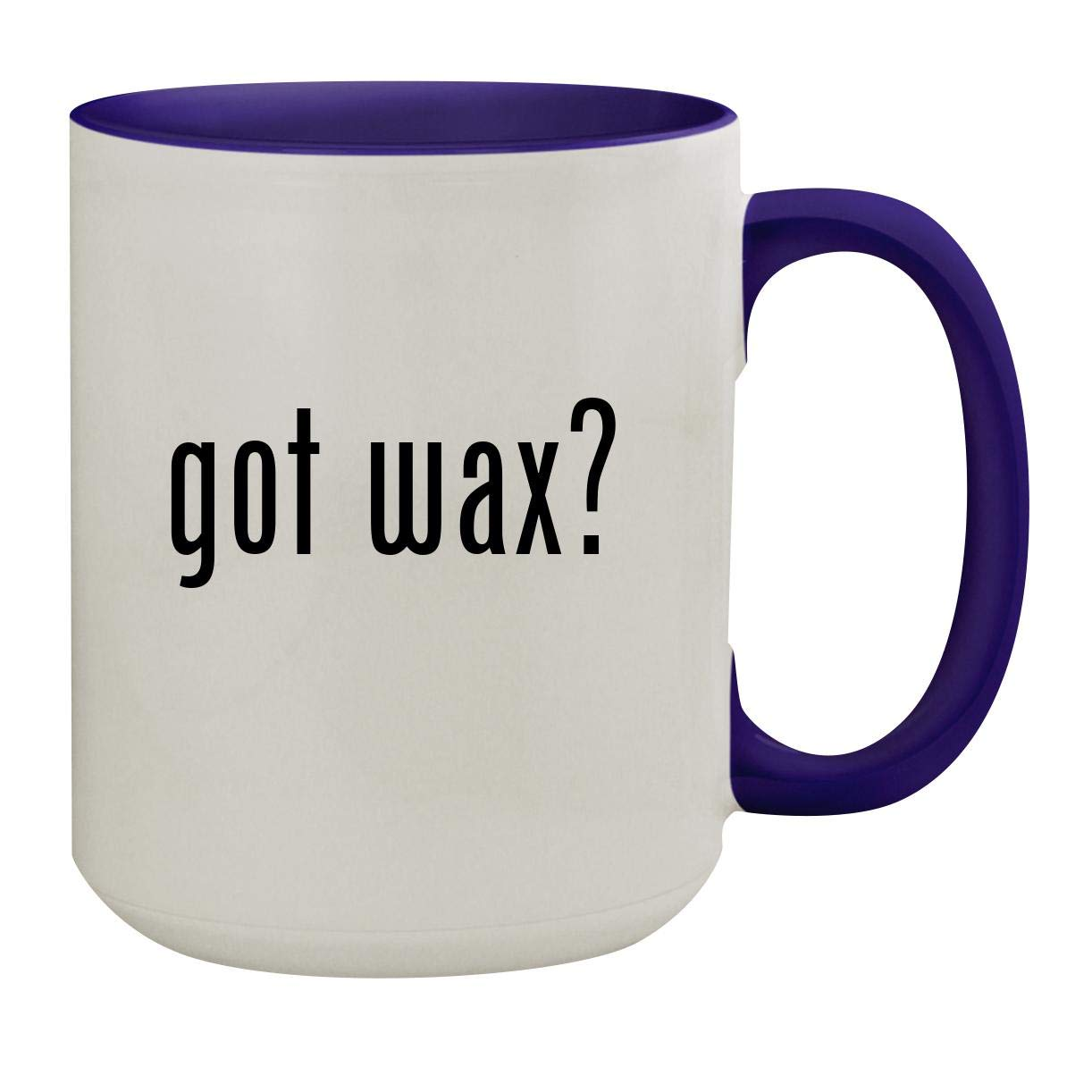 got wax? - 15oz Ceramic Inner & Handle Colored Coffee Mug, Deep Purple