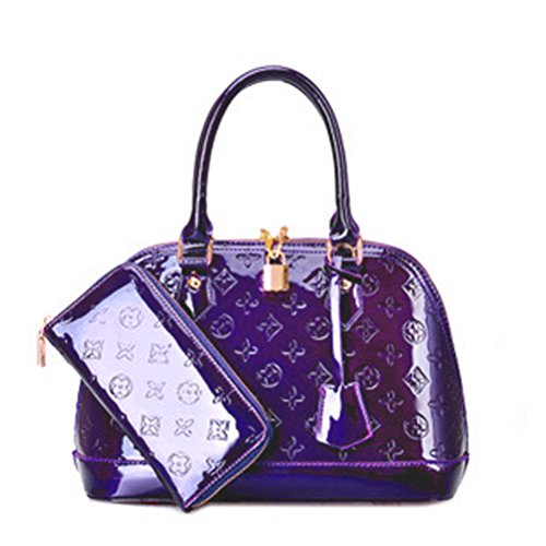 Zzfab Fashion Purse and Wallet Set - Vuitton Purple Louis
