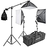 "Neewer® 2400W 5500K 20""x28""/50x70cm Four Socket Softbox Compact Fluorescent Photo Video Studio Lighting Kit with Carrying Case for Portraiture,Art and Product Photography"