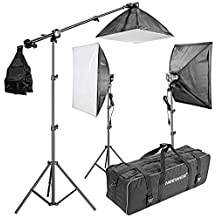 """Neewer® 2400W 5500K 20""""x28""""/50x70cm Four Socket Softbox Compact Fluorescent Photo Video Studio Lighting Kit with Carrying Case for Portraiture,Art and Product Photography"""