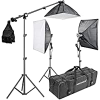Neewer® 2400W 5500K 20x28/50x70cm Four Socket Softbox Compact Fluorescent Photo Video Studio Lighting Kit with Carrying Case for Portraiture,Art and Product Photography