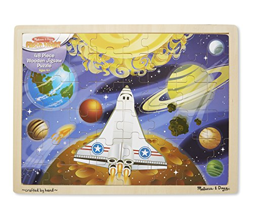 Melissa & Doug Space Voyage Wooden Jigsaw Puzzle (48 pcs) Space Voyage Jigsaw