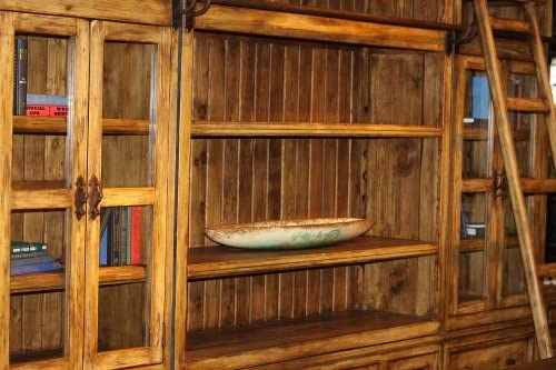 Library Wall Unit With Ladder Custom Made By Hand