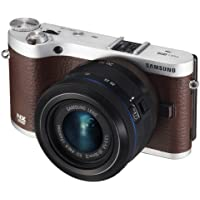 Samsung NX300 20.3MP CMOS Smart WiFi Mirrorless Digital Camera with 20-50mm Lens and 3.3 AMOLED Touch Screen (Brown)