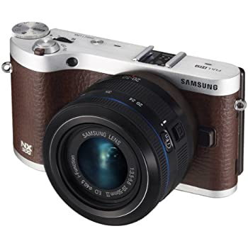 "Samsung NX300 20.3MP CMOS Smart WiFi Mirrorless Digital Camera with 20-50mm Lens and 3.3"" AMOLED Touch Screen (Brown)"