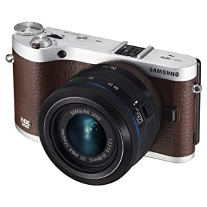 Samsung NX300 20.3MP CMOS Smart WiFi Mirrorless Digital Camera with 20-50mm Lens and 3.3″ AMOLED Touch Screen (Brown)