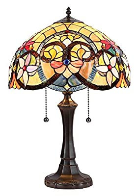 "Chloe Lighting CH35541AV16-TL2 Judith Tiffany-Style Table Lamp with 16"" Shade"