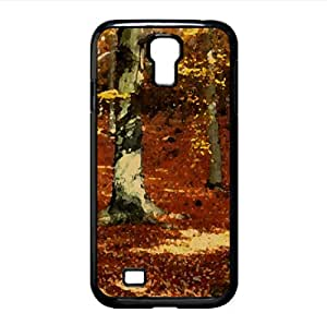 Autumn, Forest Watercolor style Cover Samsung Galaxy S4 I9500 Case (Autumn Watercolor style Cover Samsung Galaxy S4 I9500 Case)