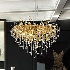 Interior Lighting Modern Crystal Chandelier Lighting Ceiling Pendant Dining Room Foyer Entryway Chandeliers Flower Rain-Drop Hanging Light… modern ceiling light fixtures