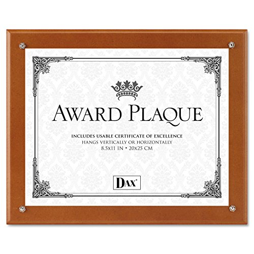 DAXamp;reg; - Plaque-In-An-Instant Kit w/Certificate/Mats, Wood/Acrylic, 10-1/2 x 13, Walnut - Sold As 1 Each - Easily create and display employee ()