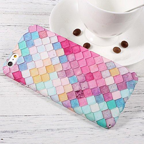 Embossed Pattern Matte PC Hard Tasche Hüllen Schutzhülle für iPhone 6s Plus/6 Plus - Colorful Mermaid Scale