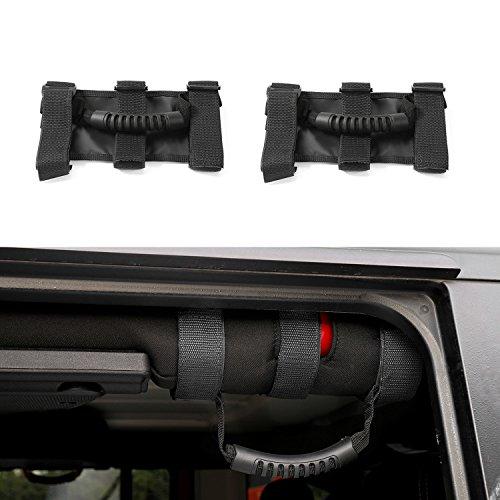 Roll Bar Wide Grab Handle for Jeep Wrangler JK TJ YJ CJ (Black)