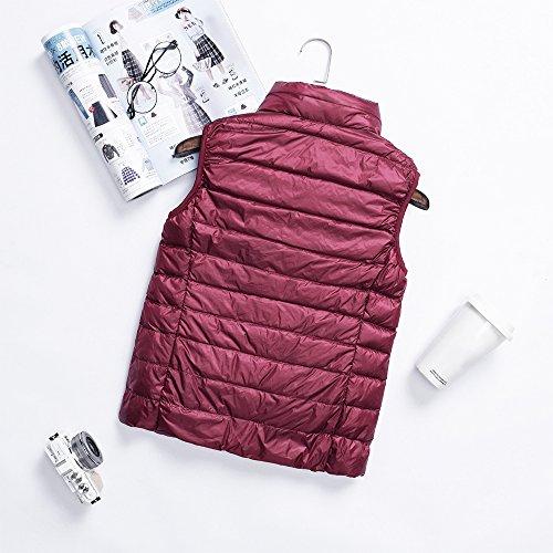 Sleeveless Red Waterproof Vest Down Women XFentech Down amp; Ladies Coat Deep Windproof Zipper Autumn Jacket Winter Outwear BnwBXqa1Y
