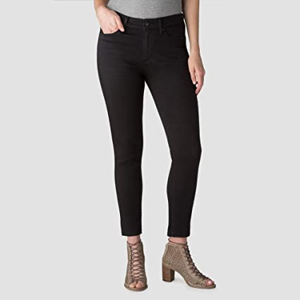 Denizen from Levis Womens High Rise Ankle Skinny Jeans - Black, 2 Long