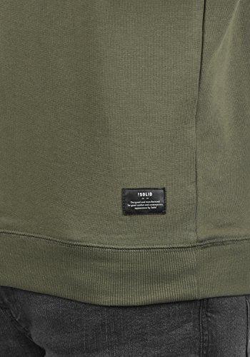 Sweatshirt da solid Felpa Kian Sweater 3784 Oliv Dusty uomo girocollo EvRS1Rqxna