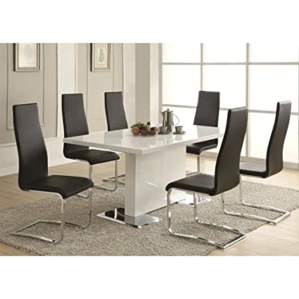 Strange Amazon Com Inland Empire Furniture Modern Dining 7 Piece Caraccident5 Cool Chair Designs And Ideas Caraccident5Info