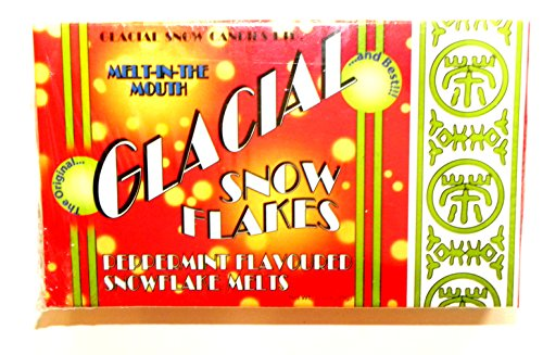 (Universal Studios Wizarding World of Harry Potter Diagon Alley Glacial Snow Flakes Peppermint Snowflake Melts White Chocolate Wizarding Weasleys Candy Store 3.5 Oz.)