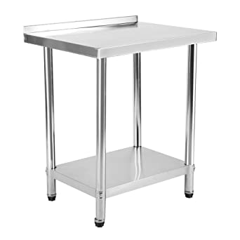 Amazon.com: Mesa de trabajo de acero inoxidable de 30.0 x ...