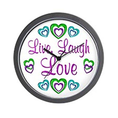 CafePress - Live Laugh Love Wall Clock - Unique Decorative 10