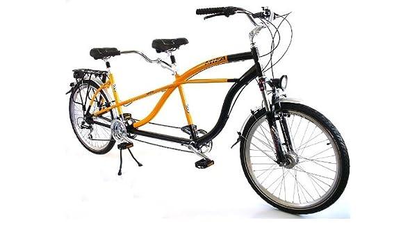 Tándem de bicicleta Shimano Acera 21 G, negro - naranja: Amazon.es ...